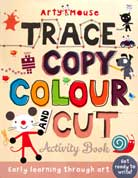 Arty Mouse Trace Copy Colour and Cut Activity Book