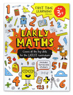 First Time Learning Preschool Early Maths Workbook with Fun Reward Stickers (ages 3y+)
