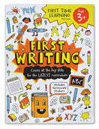 First Time Learning Preschool First Writing Workbook with Fun Reward Stickers (ages 3y+)