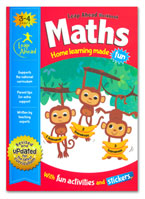 Maths Leap Ahead Workbook Home Learning Made Fun With Fun Activities and Stickers (Age 3-4y)