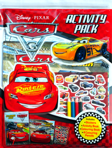Disney Pixar Cars 3 Activity Pack (Includes: Stickers, Activity Book, Colouring Book, 4 Colouring Pencils)