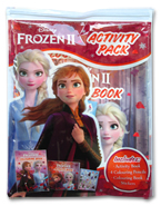 Disney Frozen II Activity Pack (Includes: Activity Book, 4 Colouring Pencils, Colouring Book, Stickers)