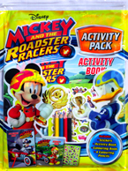 Disney Mickey and The Roadster Racers Activity Pack (Includes: Stickers, Activity Book, Colouring Book, 4 Colouring Pencils)