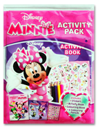 Disney Minnie Activity Pack (Includes: Stickers, Activity Book, Colouring Book, 4 Colouring Pencils)