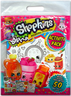 Shopkins Activity Pack Includes 4 Colouring Pencils and over 50 Sweet-scented Stickers!