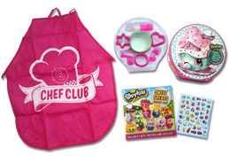 Shopkins Play Tin Set Chef Club (10 cake cases, 6 cookie cutters, chef's apron, icing set, stickers, recipe & activity book)