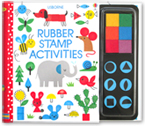 Usborne Rubber Stamp Activities Book with 6 Colourful Ink Pads & 6 rubber stamps