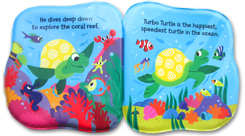 Magical Bath Book Turbo Turtle Watch the Cover Change Colour in Warm Water!