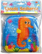 SPEEDY SEAHORSE Bath Time Buddies - Squeaky Bath Book
