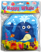 HAPPY WHALE Bath Time Buddies - Squeaky Bath Book