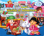 Fisher Price Little People Worlds of Adventure A Look-Inside Board Book - Learn over 275 words!