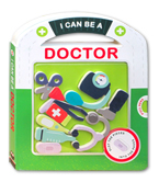 I Can Be A Doctor Board Book with play pieces to slot into the pages
