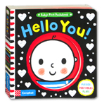 Baby's First Peekabook Hello You Board Book (Mirror, Peep Holes, Flaps)