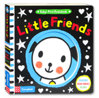 Baby's First Peekabook Little Friends Board Book (Mirror, Peep Holes, Flaps)