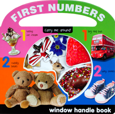 First Number Carry Me Around Peek-through Window Handle Board Book
