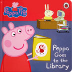 Peppa Pig Peppa Goes to the Library Board Book