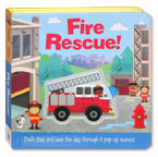 Fire Rescue! (Push, Play and Save the Day Through 8 Pop-Up Scenes!)