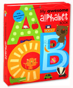 My Awesome Alphabet Board Book (with letter-shaped pages)