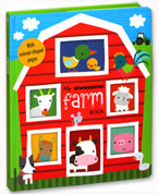 My Awesome Farm Board Book (with animal-shaped pages)