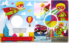 Spin Your Own Super Hero Story Book (Over 1000 Combinations)