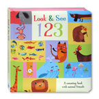 Look & See 123 Board Book (An Counting Book With Animal Friends)
