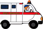 Andy's Ambulance Shaped Vehicle Board Book