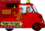 Freddy's Fire Engine Shaped Vehicle Board Book