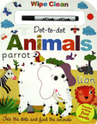 Dot-to-dot Animals Wipe Clean Board Book with Practise Writing First Words