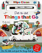 Dot-to-dot Things That Go Wipe Clean Board Book with Practise Writing First Words