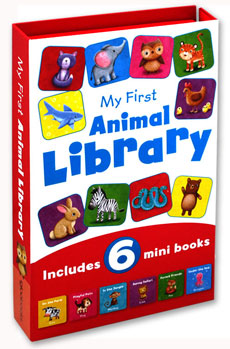 My First Animal Library Includes 6 mini books