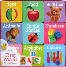 FIRST WORDS Chunky Board Books First Steps (9 board books)