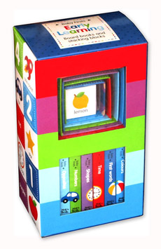 Baby Firsts EARLY LEARNING Box Set includes 6 Board Books and 6 Stacking Blocks (Box Warna-Warni) (Promo Januari!)