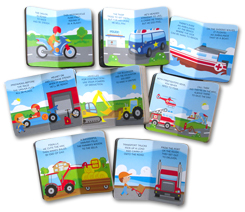 My First Library Vehicles includes 8 Board Books