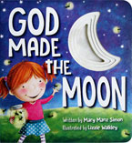 God Made the Moon Board Book with Moon Peek-Through Holes