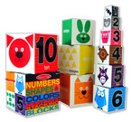 Melissa & Doug Number Shapes & Colours Nesting and Stacking Blocks includes 10 blocks