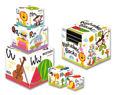 Petite Boutique Alphabet Blocks Sort and Stack! Includes 5 Blocks (Special Price!)
