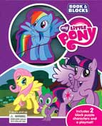 My Little Pony Book & Blocks Includes 2 Block Puzzle Characters and a Playmat!