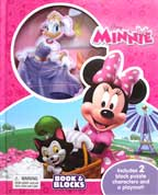Disney Minnie Book & Blocks Includes 2 Block Puzzle Characters and a Playmat!