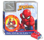 Marvel Spiderman Board Book With Story, Wind-Up Toy & Play-Track