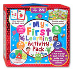 My First Learning Activity Pack (abc 123 flashcards, double-sided jigsaw puzzle, shape recognition, activity book)