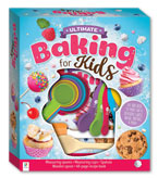 Ultimate Baking For Kids Box Set (Measuring Spoons, Measuring Cups, Spatula, Wooden Spoon, 48-page Recipe Book)