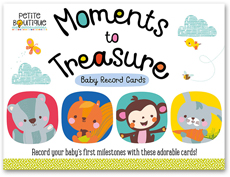 Petite Boutique Moments to Treasure Baby Record Cards (Record your baby