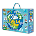 Learn And Play With Coding Earth Mission Book + Game For Learning While Having Fun