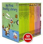 Usborne My First Reading Library 50 Books Set Collection (GREEN Box)