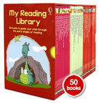 Usborne Second Reading Library 50 Books Set Collection (RED Box)