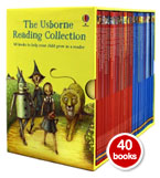 Usborne Young Reading Collection 40 Illustrated Books Box Set (YELLOW Box)