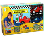 My Little Racing Circuit Play Set (Book, Puzzle, 2 Wooden Cars & Cardboard Elements)