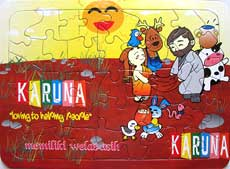 Puzzle Board KARUNA (Memiliki Welas Asih) (Buddhist Kidz Collection)