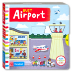 Busy Airport - Push Pull Slide Board Book