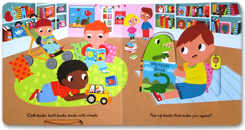 Busy Bookshop - Push Pull Slide Board Book